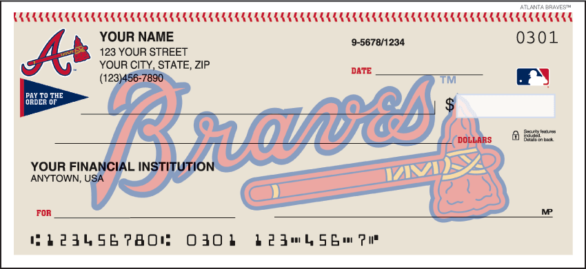 Atlanta Braves¿ Checks - click to view larger image