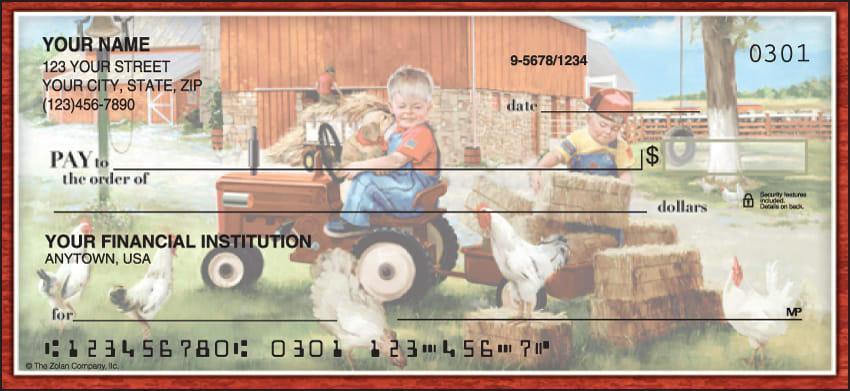 Barnyard Buddies Checks - click to view larger image