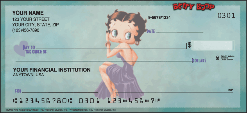 Enlarged view of Betty Boop - Just Say Boop Checks