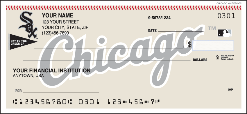 Chicago White Sox¿ Checks - click to view larger image
