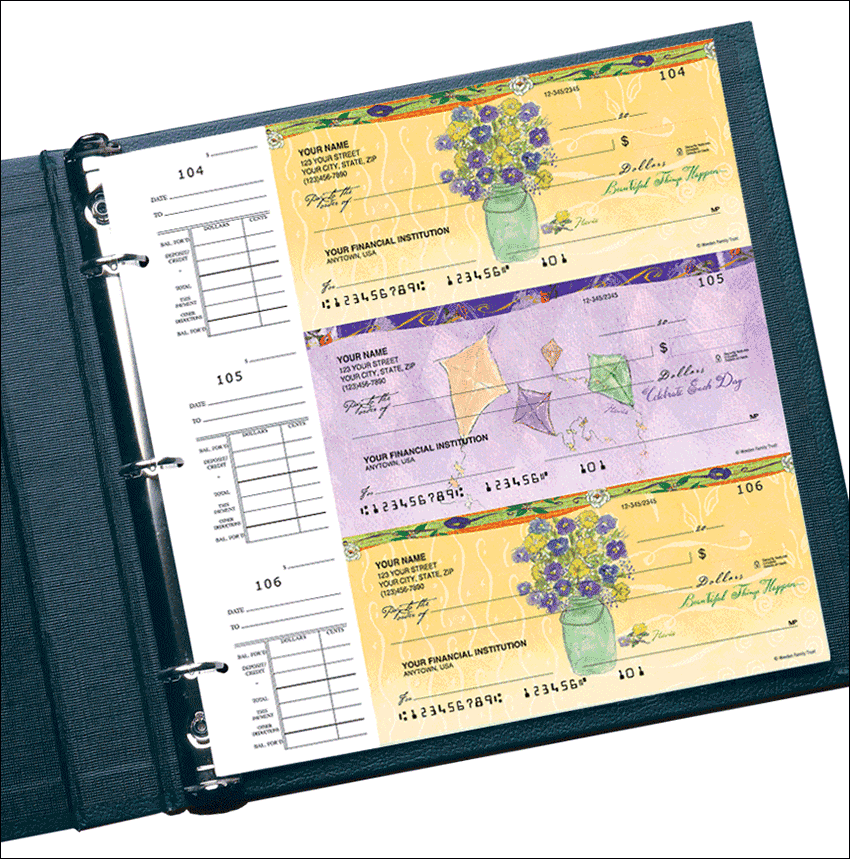 Enlarged view of Flavia® Celebrations Desk Set Checks