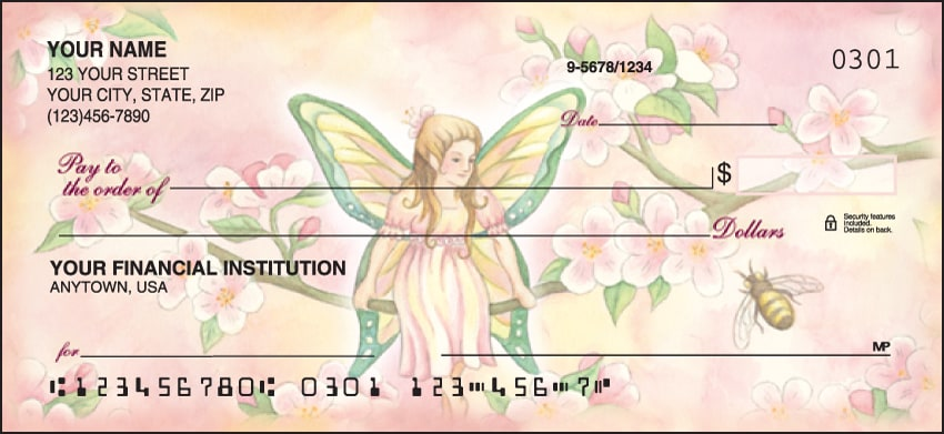 Garden Fairies Checks - click to view larger image