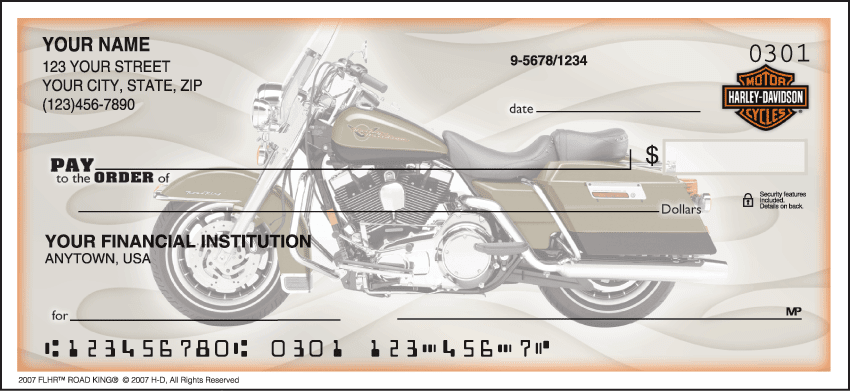 Enlarged view of Side Tear - Harley-Davidson Checks