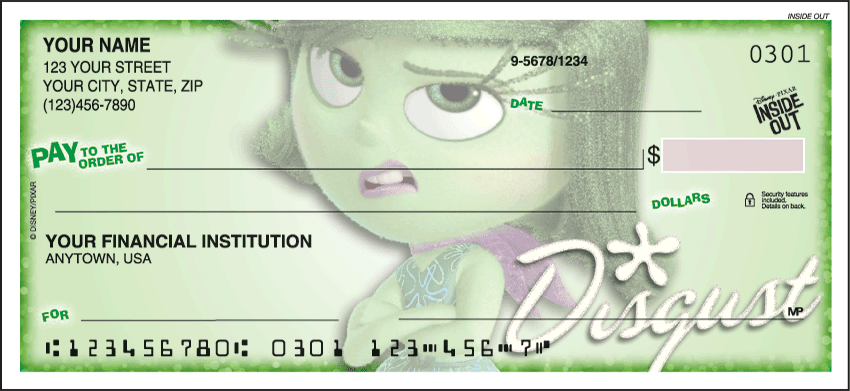 Enlarged view of Disney Pixar Inside Out Checks