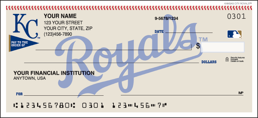 Kansas City Royals¿ Checks - click to view larger image