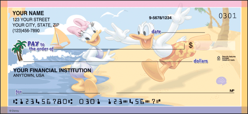 Disney Mickey's Adventures Checks - click to preview