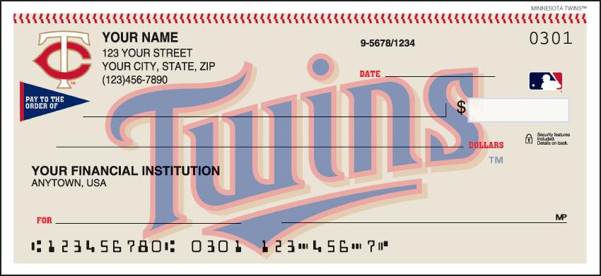 Minnesota Twins¿ Checks - click to view larger image