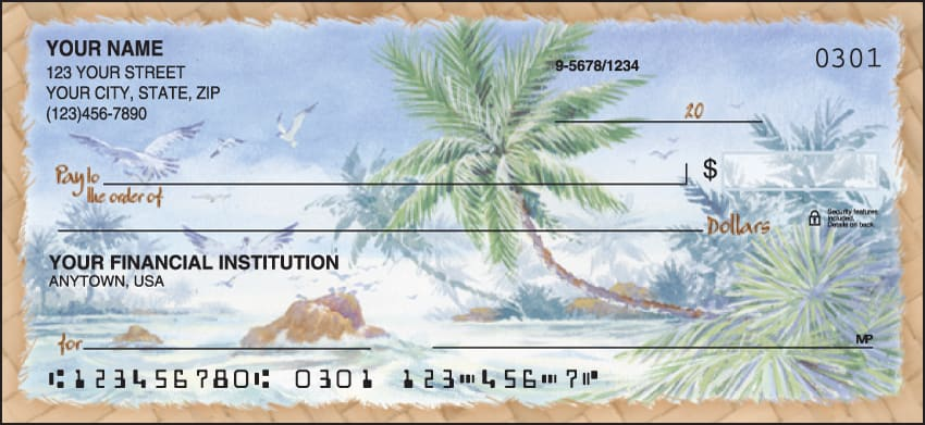 Enlarged view of Palm Trees Checks