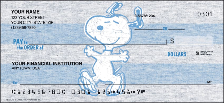 Enlarged view of Peanuts Checks