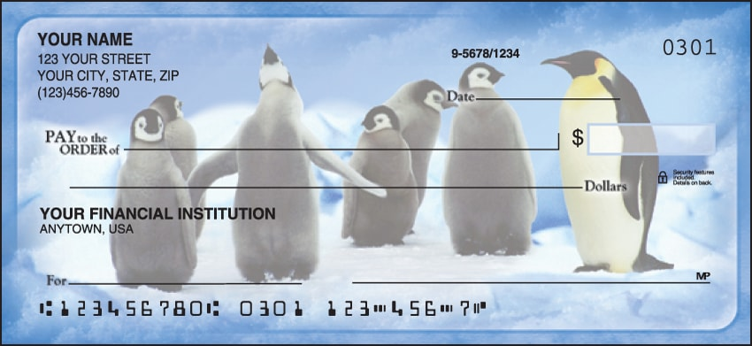 Penguin Parade Checks - click to view larger image