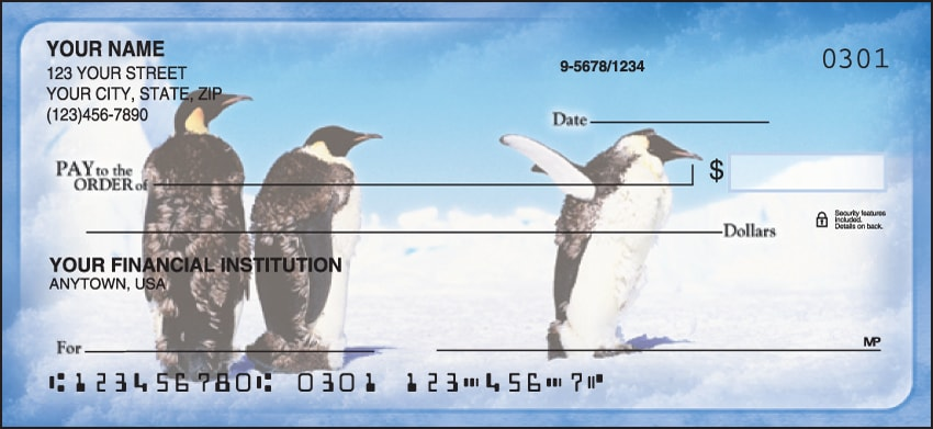 Enlarged view of Penguin Parade Checks