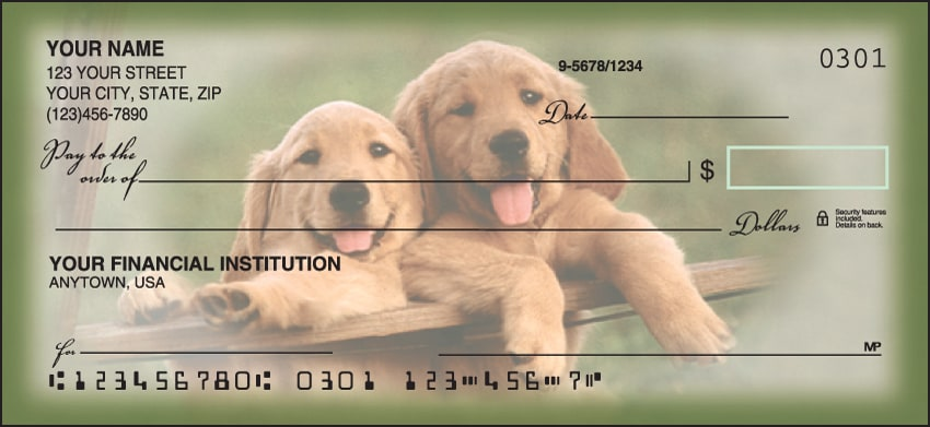 Playful Pups Checks - click to view larger image