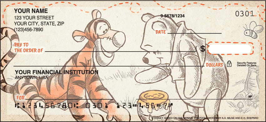 Disney Pooh & Friends Checks - click to preview