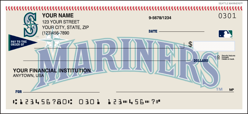 Seattle Mariners¿ Checks - click to view larger image