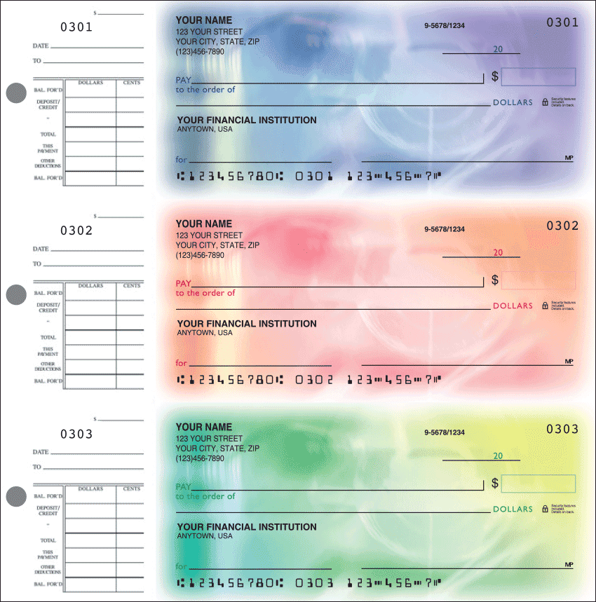 Spectrum Desk Set Checks - click to view larger image