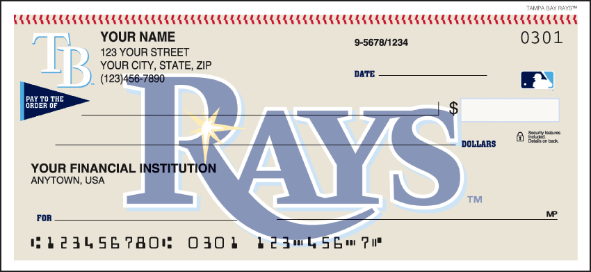 Tampa Bay Rays¿ Checks - click to view larger image