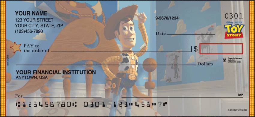 Disney Pixar Toy Story Checks - click to view larger image