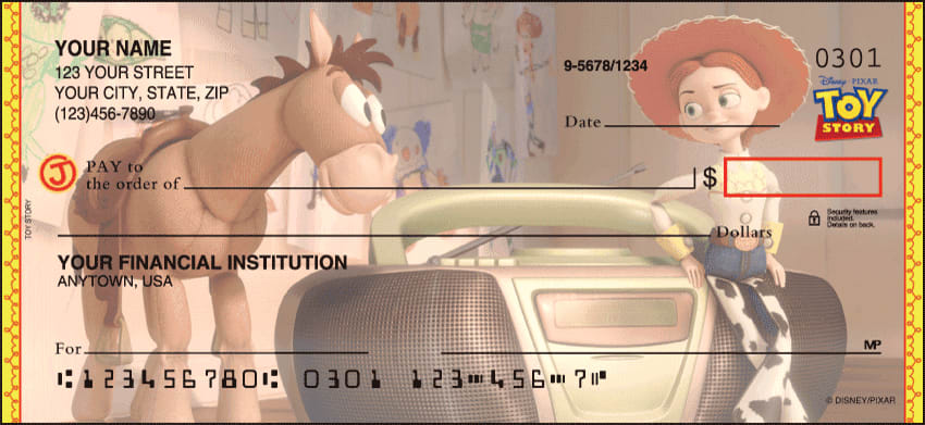 Disney Pixar Toy Story Checks - click to preview