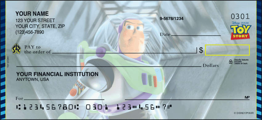 Enlarged view of Disney Pixar Toy Story Checks