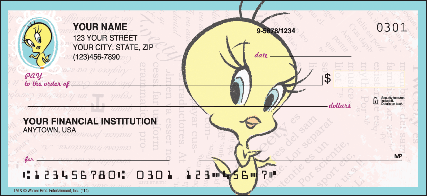 Totally Tweety Checks - click to preview