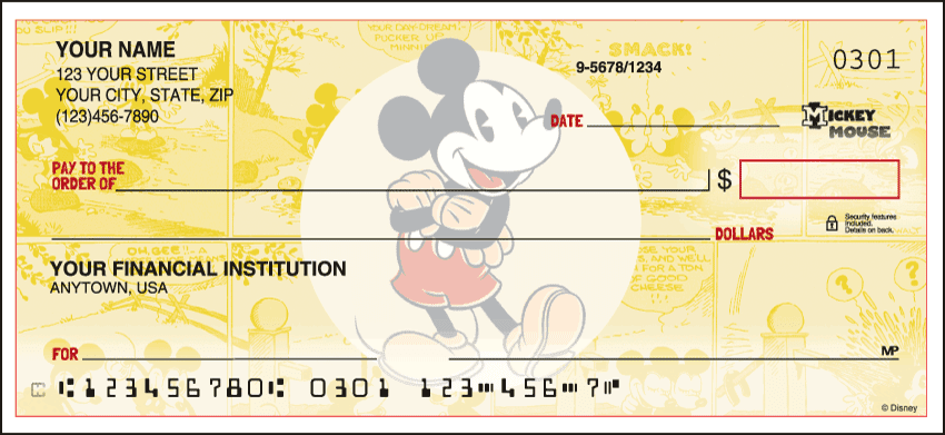 Disney Vintage Mickey Checks - click to view larger image