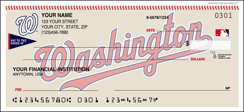 Washington Nationals¿ Checks - click to view larger image
