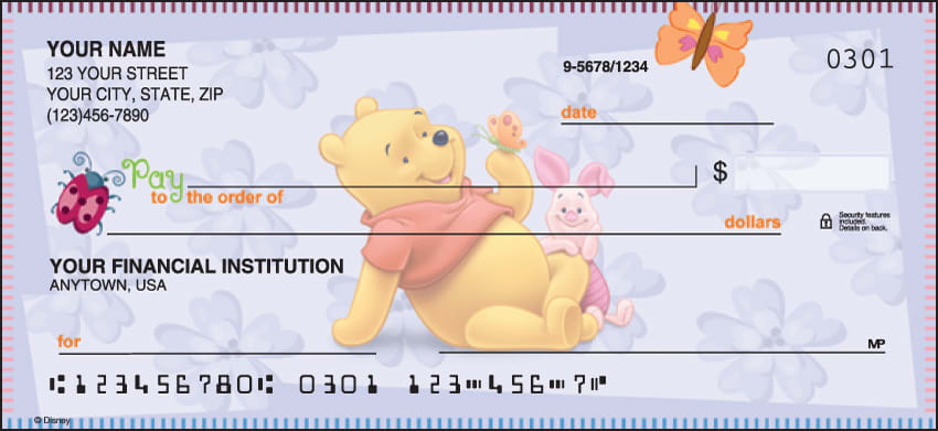 Disney Winnie the Pooh Checks - click to preview