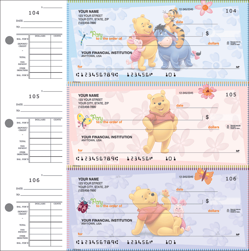 Enlarged view of Disney Winnie the Pooh Desk Set Checks