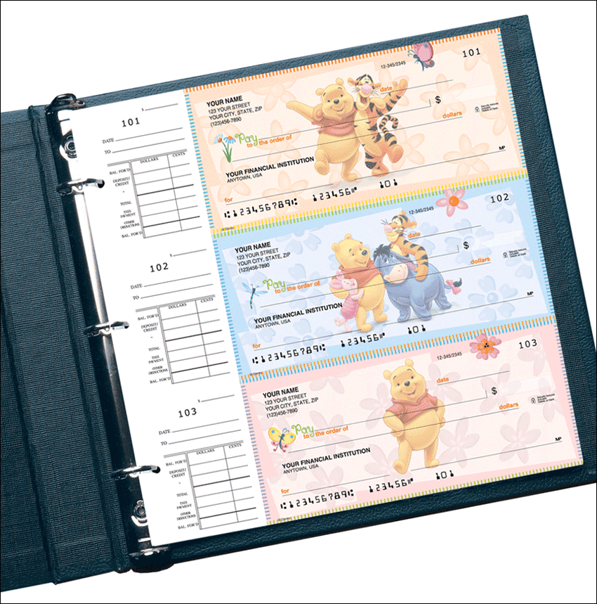 Disney Winnie the Pooh Desk Set Checks - click to preview
