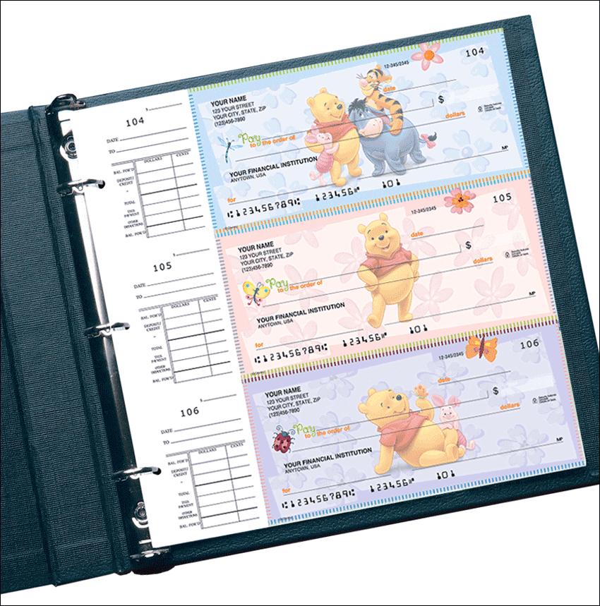 Disney Winnie the Pooh Desk Set Checks - click to preview