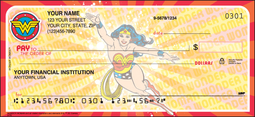 Wonder Woman Comics Checks - click to view larger image