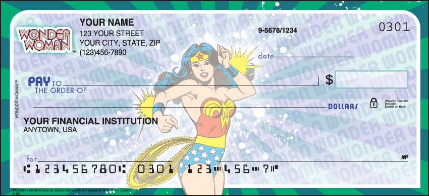 Wonder Woman Comics Checks - click to preview