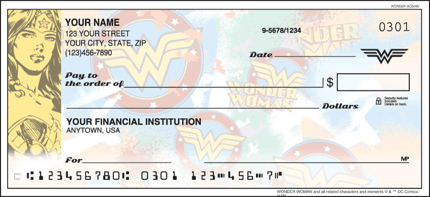 Enlarged view of Wonder Woman Checks