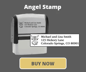 Angel Address Stamp