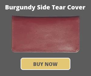 Burgundy Side Tear Checkbook Cover