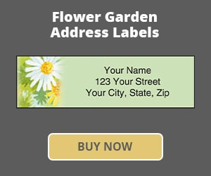 Flower Garden Address Labels