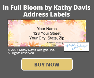 In Full Bloom by Kathy Davis Address Labels