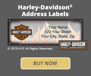 Harley-Davidson Address Labels