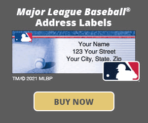 Major League Baseball Address Labels