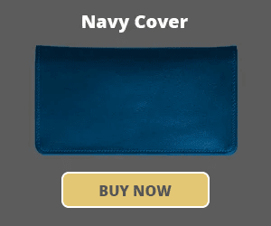 Navy Checkbook Cover