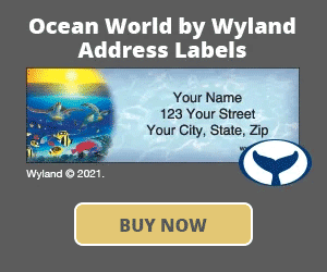Ocean World by Wyland Address Labels