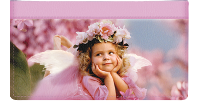 Angel Faces Checkbook Cover