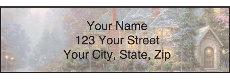 Image of Quiet Escapes Thomas Kinkade Address Labels