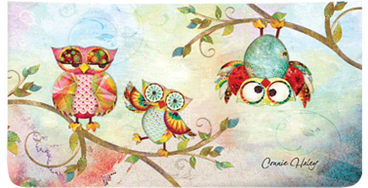 Owls Checkbook Covers