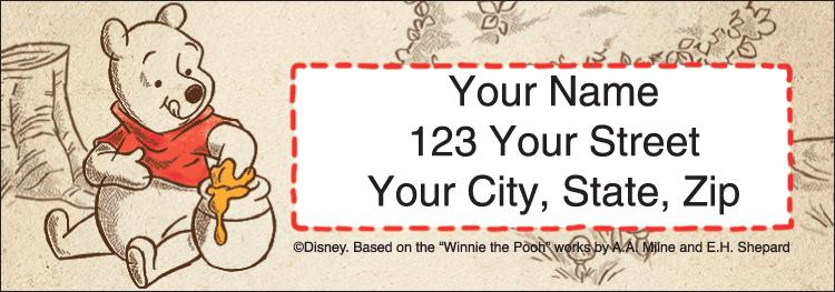 Disney Pooh & Friends Address Labels - Set of 210