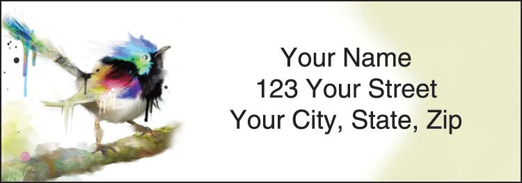 Watercolor Birds Labels - Set of 210
