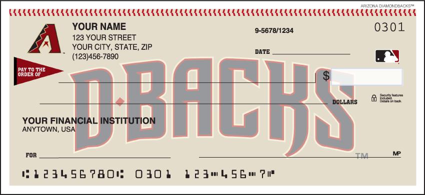 Arizona Diamondbacks MLB Personal Checks - 1 Box - Duplicates
