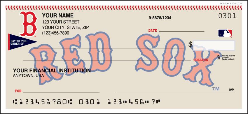 Boston Red Sox MLB Personal Checks - 1 Box - Duplicates