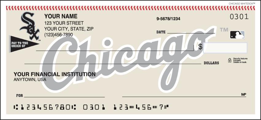 Chicago White Sox MLB Personal Checks - 1 Box - Singles
