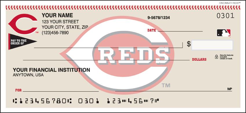 Cincinnati Reds MLB Personal Checks - 1 Box - Duplicates